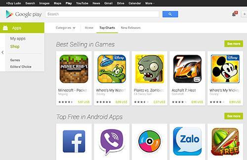 Google làm mới giao diện kho nội dung Play