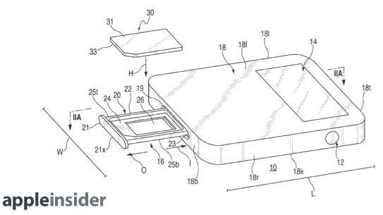 Apple muốn iPhone mỏng hơn nhờ cải tiến khay SIM