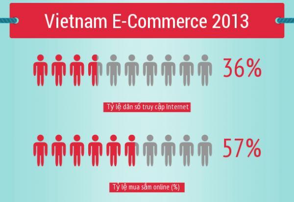 Thống kê ngành thương mại điện tử ở Việt Nam 2013